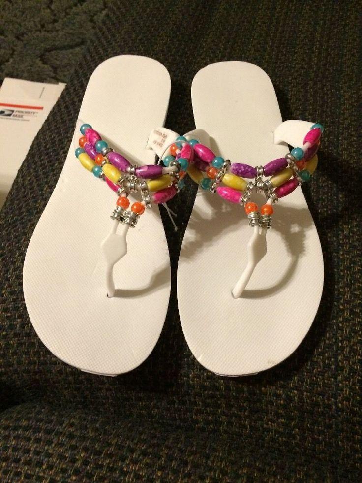 Ladies Flip Flops Size M(8-9)  | eBay