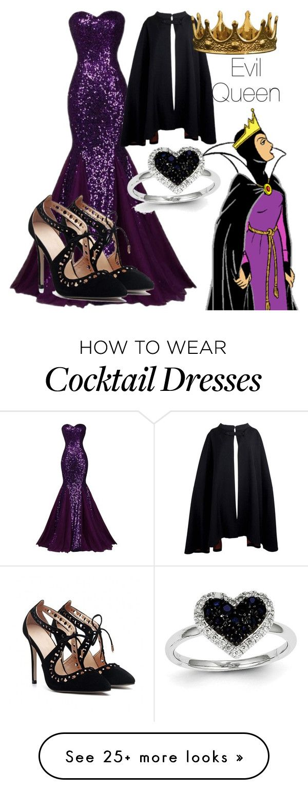 """""""The Evil Queen ~Anna"""" by disney-daughters on Polyvore featuring Kevin Jewelers and Pierre Cardin                                                                                                                                                                                 More"""
