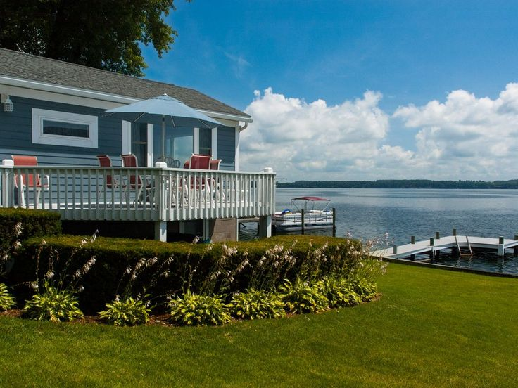 """A Cottage on the Bay:""""Adorable Lakeside Cottage Near Geneva"""". Situated right on the lakeside, this small cottage has one of the best views of Glass Factory B..."""