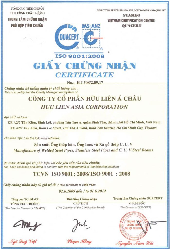 About Iso  Certificate International Standard Business