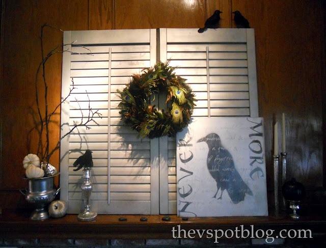 The V Spot: If Edgar Allan Poe had been given some contact paper & a Cricut... (DIY Halloween Artwork)