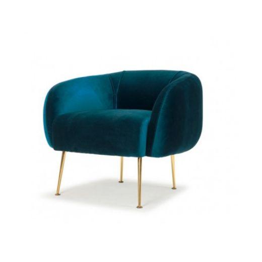 Sunday Chair Royal Blue Velvet