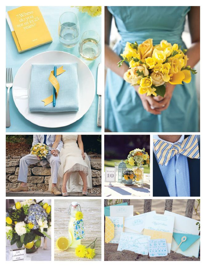 Wedding Colors! light blue & yellow  Love these two colors together. So pretty.