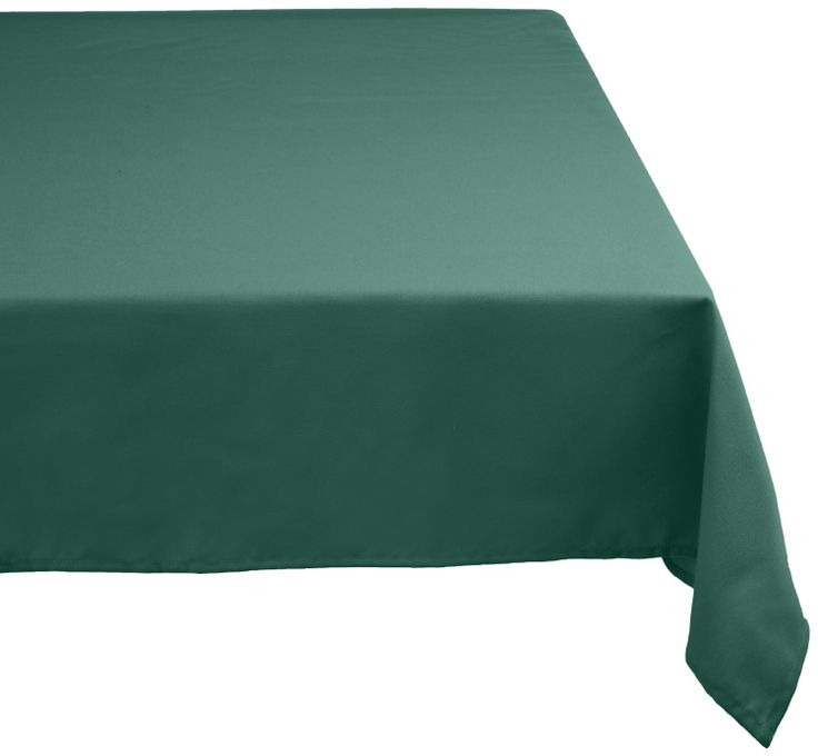 Amazon.com   DII 100% Polyester, Machine Washable Tablecloth Dark Green  52x70,