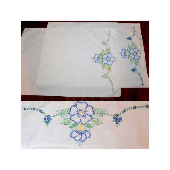 Handkerchief - Pink, blue & yellow flowers on pink with blue edge Notch