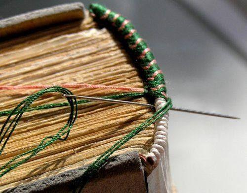 Headband sewing. forcalquierdeslivres.free.fr