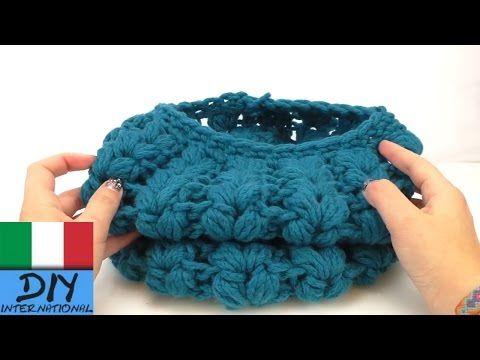 Sciarpa Loop V-Punto a sbuffo Crochet | Grande sciarpa inverno fai da te - YouTube