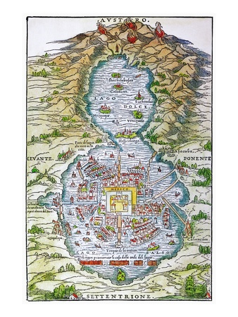 Tenochtitlan. Modern day Mexico City. Anciently Built in the lake. Famous for floating gardens.