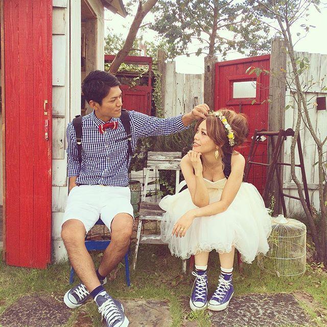 2015.09.10(thu) 今日はWedding前撮り! 先週からちょっとずつ復帰してます! タノシイタノシイ #stseaphoto #セントシーフォト #熊本 #kumamoto #写真館 #Wedding #前撮り #ウエディング