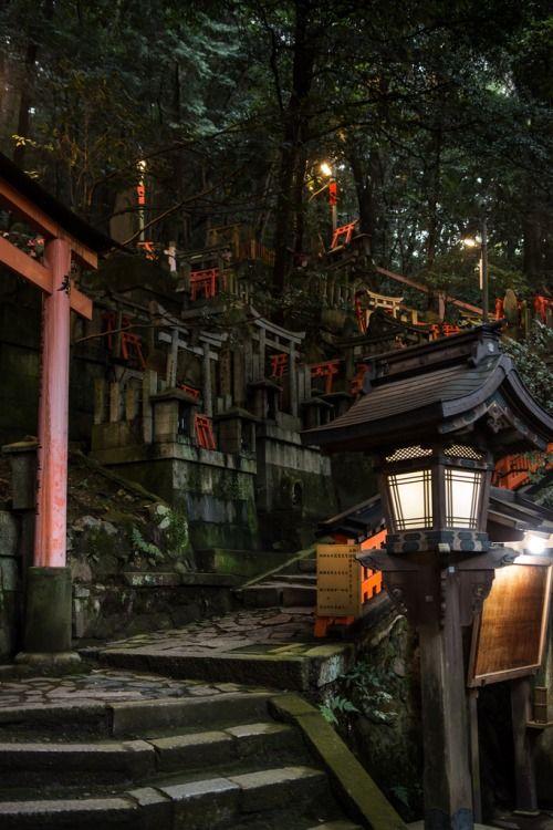 mistymorningme:Mitsurugi-sha in Fushimi Inari Shrine by TakashiPhotographed at Fushimi Inari Shrine, Kyoto, Japan.