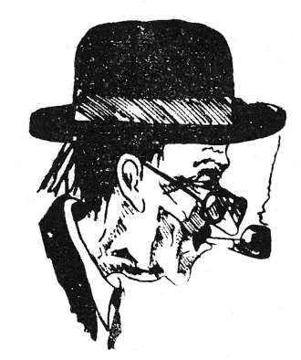 Gyárfás L. Miklós: Molter Károly karikatúra