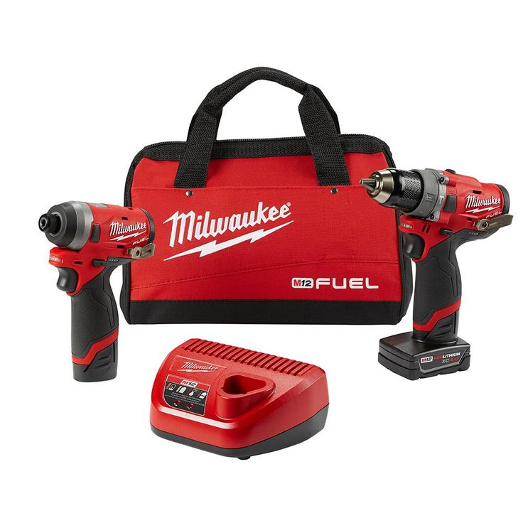 Milwaukee M12 FUEL 12-Volt Brushless Cordless Hammer Drill and Impact Driver Combo Kit (2-Tool)