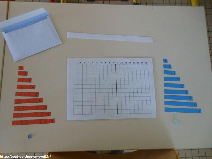 Activité Montessori pour mémoriser les tables d'addition   Bout de chou en éveil