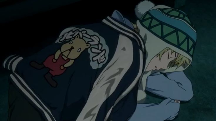Noragami ~~ Yukine asleep on the cold, hard ground :: Episode 3