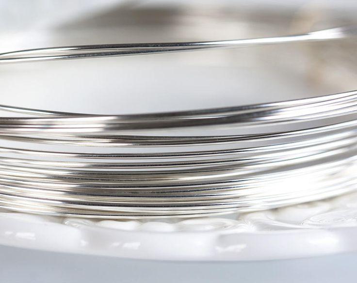 2474_Silver 925 wire 0.8 mm, 20 gauge wire, Half hard jewelry wire, Sterling silver wire, Round wire, Light silver wire, Craft wire_0.5 m by PurrrMurrr on Etsy