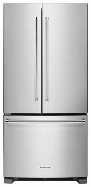 KitchenAid - 22.1 Cu. Ft. French Door Refrigerator - Stainless Steel - Front_Standard