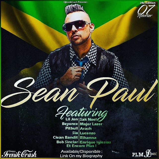 Download available/disponible february 7th on my biography #seanpaul #featuring #jamaica #liljon #majorlazer #beyonce #pitbull #bobsinclar #sia #cleanbandit #saknoel #arash #lucenzo #rihanna #enriqueiglesias #webradio #radio #djvfmradio #ironikcrash #dj #mtlparty #montrealnightlife #party #design #graphicdesign #infographic #flyers @duttypaul