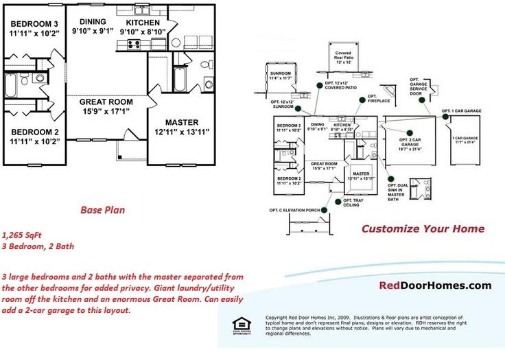 Red Door Homes Floor Plans: Ranch Homes Images On Pinterest