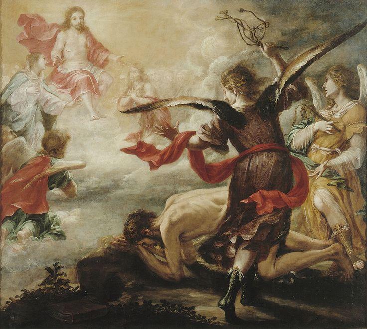 """""""Flagelación de San Jerónimo"""" Juan de Valdés Leal (Sevilla, 1622 - 1690) Óleo sobre Lienzo 223,5 x 245,5 cm. h.1657  Procedencia: Monasterio de San Jerónimo de Buenavista. Sevilla"""