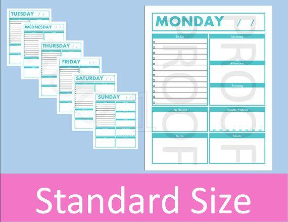 42 best Printable Planner Pages images on Pinterest Discbound - mileage log form