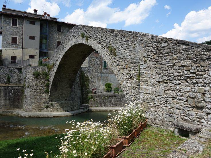 Ponte della Maestà over the Montone River in Portico di Romagna #italy #EmiliaRomagna #romagnadiffusa