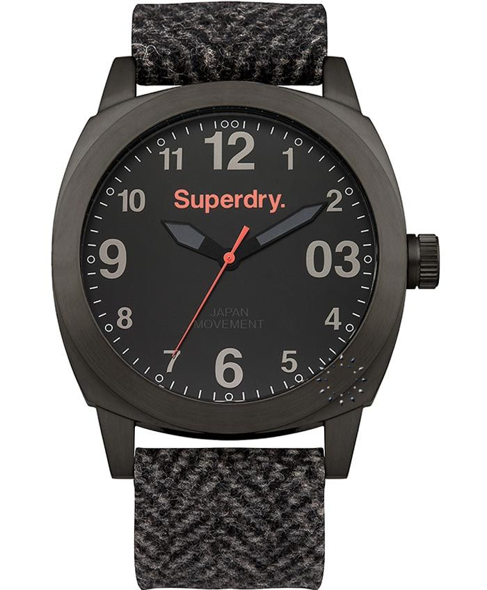 SUPERDRY Thor All Black Fabric Strap Τιμή: 139€ http://www.oroloi.gr/product_info.php?products_id=37035