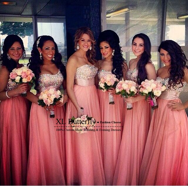 Cheap Bridesmaid Dresses, Buy Directly from China Suppliers:                                        New Design Sweetheart Sparkly Crystal Beaded Coral