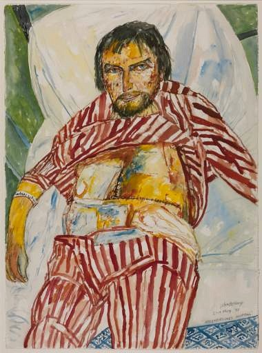Two Faced Mirror | How artists see themselves | John Bellany. He is painting and observing, even when he is dying!