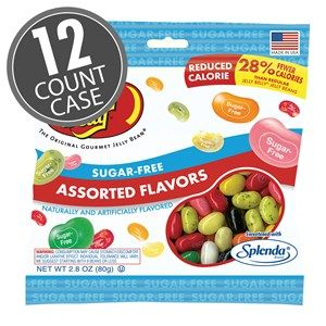 Sugar-Free Jelly Beans 2.8 oz Bag - 12 Count Case