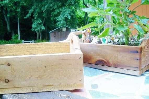 Cedar Tray Fairy Garden Planter Outdoor Tabletop by ThePaintedPine, $25.00