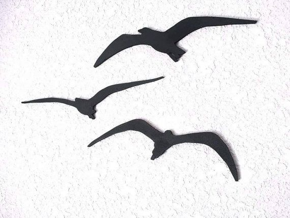 Hey, I found this really awesome Etsy listing at https://www.etsy.com/listing/222685630/seagull-silhouette-set-of-3-bird
