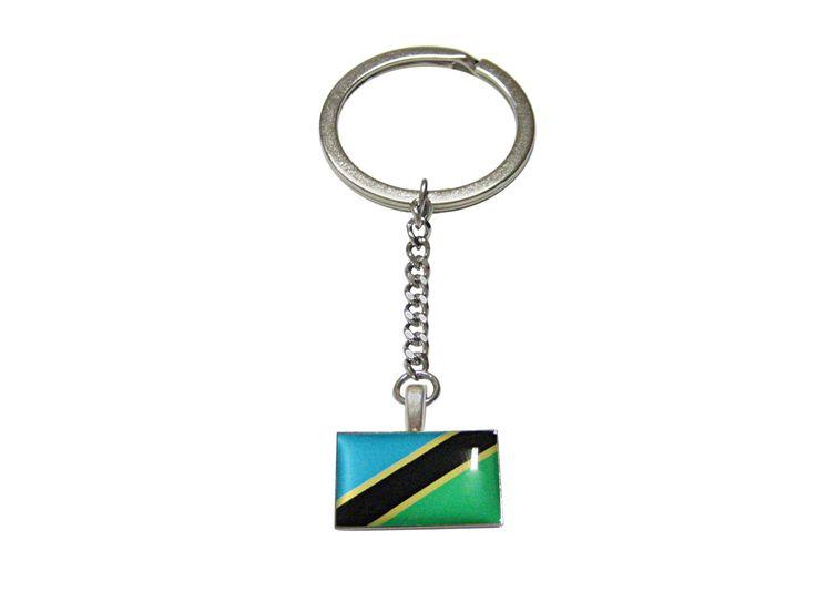 Tanzania Flag Pendant Keychain