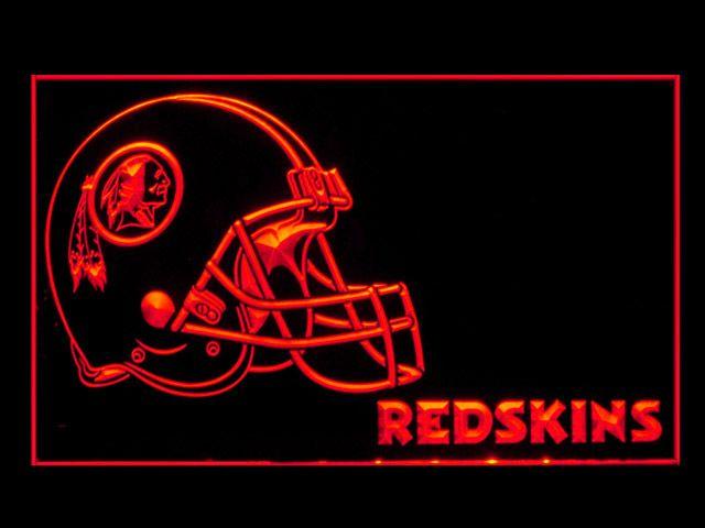 Washington Redskins Helmet New Shop Neon Light Sign