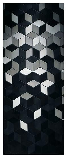 Find This Pin And More On Geometric Patterns Square Designs Texture Etcblack White Floor Lamp  Black Mosaic Tile Bathroom