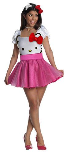 hello kitty dresses for adults | Hello Kitty Adult Tutu Dress Costume includes Dress with Hello Kitty ...