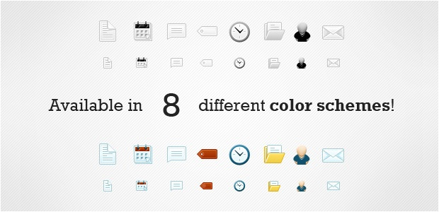 Icon set for blogger