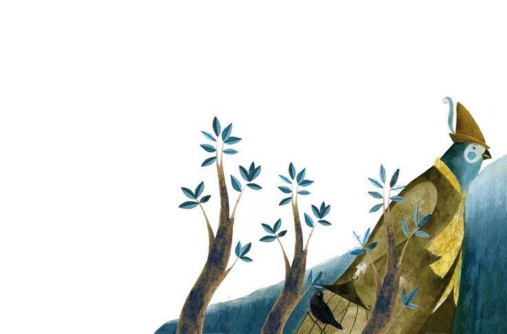 """Cecilia Varela illustration for """" Le Chant des Oiseaux""""."""