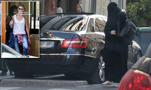 Moment Gisele Bündchen dons a burqa to secretly visit plastic surgeon