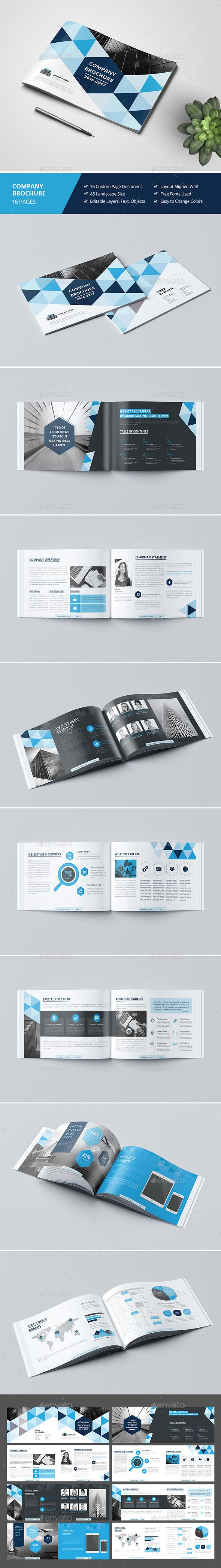 Haweya Landscape Brochure 16 Pages Template 	InDesign INDD. Download here: graph...