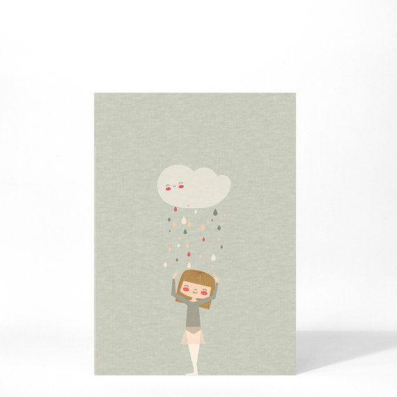 Ballerina postcard by Apanona on Etsy