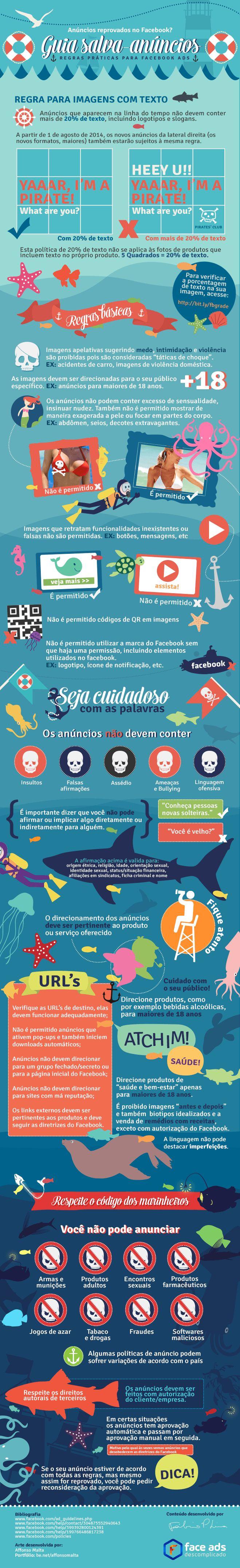 Guia salva anúncios no Facebook #infografico                              …