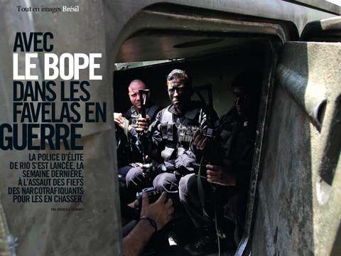 Avec le BOPE dans les favelas en Guerre
