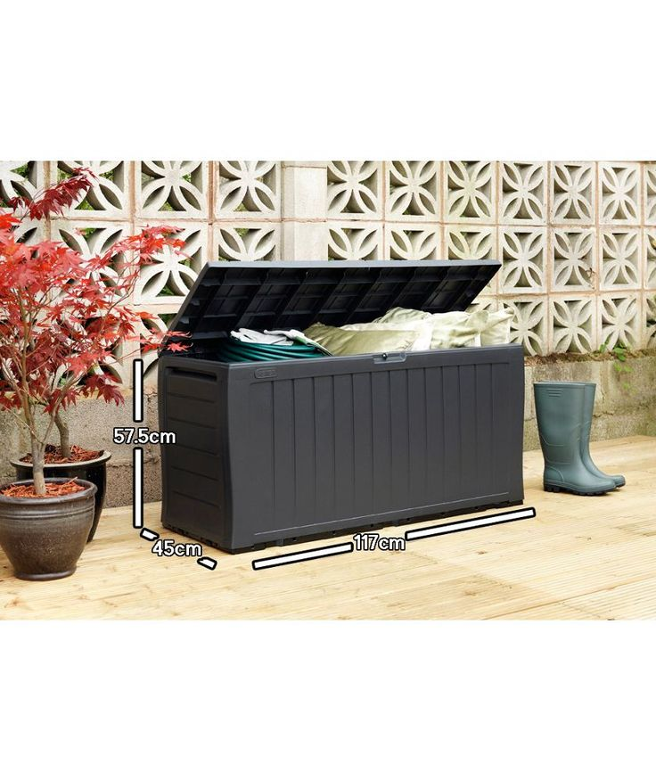 Buy Grey Keter Wood Effect Plastic Garden Storage Box at Argos.co.uk - Your Online Shop for Garden storage boxes and cupboards.
