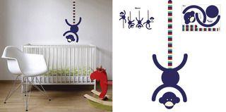 Opice proužkovaná - samolepky na stěnu