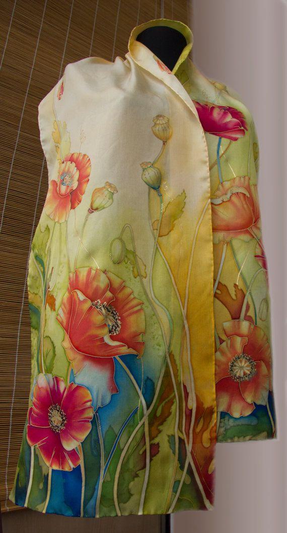 Silk Square Scarf - Sunflowers & Pears by VIDA VIDA pOAR0GzJnI