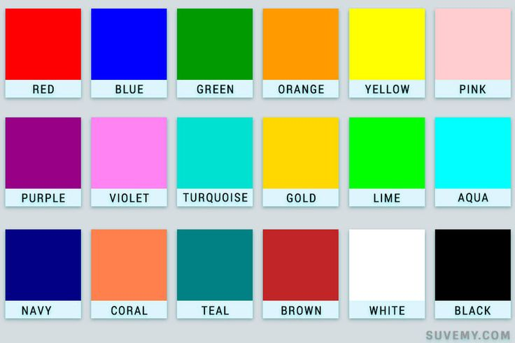 Colours Names In English Learn Full English Pinterest