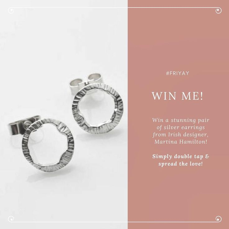 🌟WIN🌟We are giving you a chance to win these stunning Silver Shell Stud Earrings! Simply 💚the post and share the ❤️ by tagging a friend! . . . #friyay #instajewelry #irishdesigner #irishjewelry #silverstuds #luckywinner #giveaway #competition #win #jewelry #earrings #jewellery #silverjewelry #instajewelry #jewelrylover #jewelrygram #ireland #irishdesign