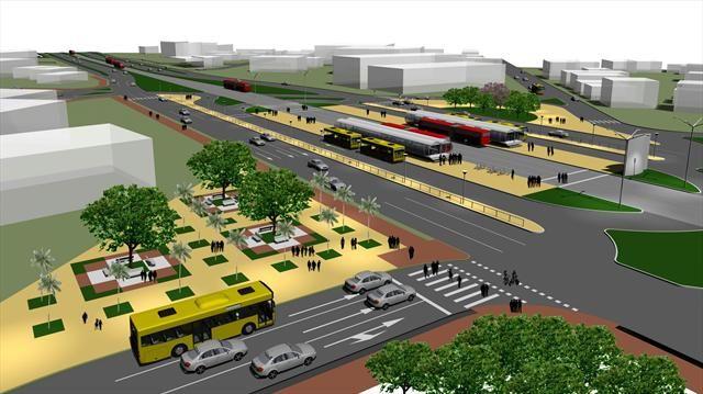 Linha Verde Norte. Na imagem, trecho da rua Fagundes Varela. Curitiba, 28/01/2010 Ilustração:IPPUC