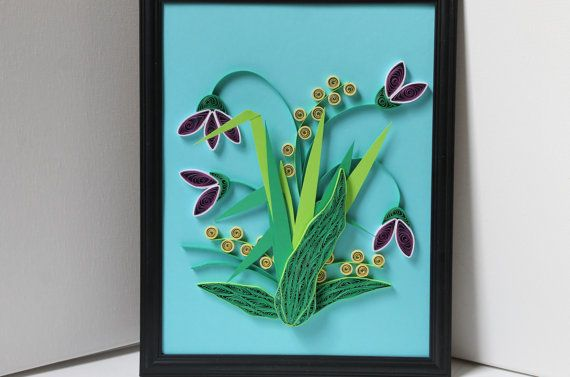 Hey, I found this really awesome Etsy listing at https://www.etsy.com/listing/183812510/purple-lilys-quilled-paper-ooak