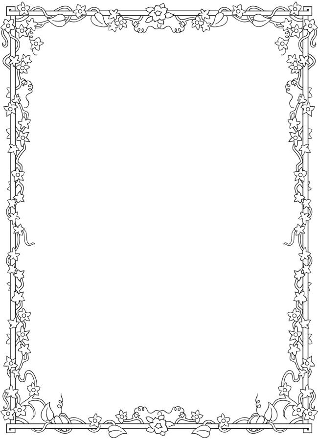 coloring pages flower borders - photo#32